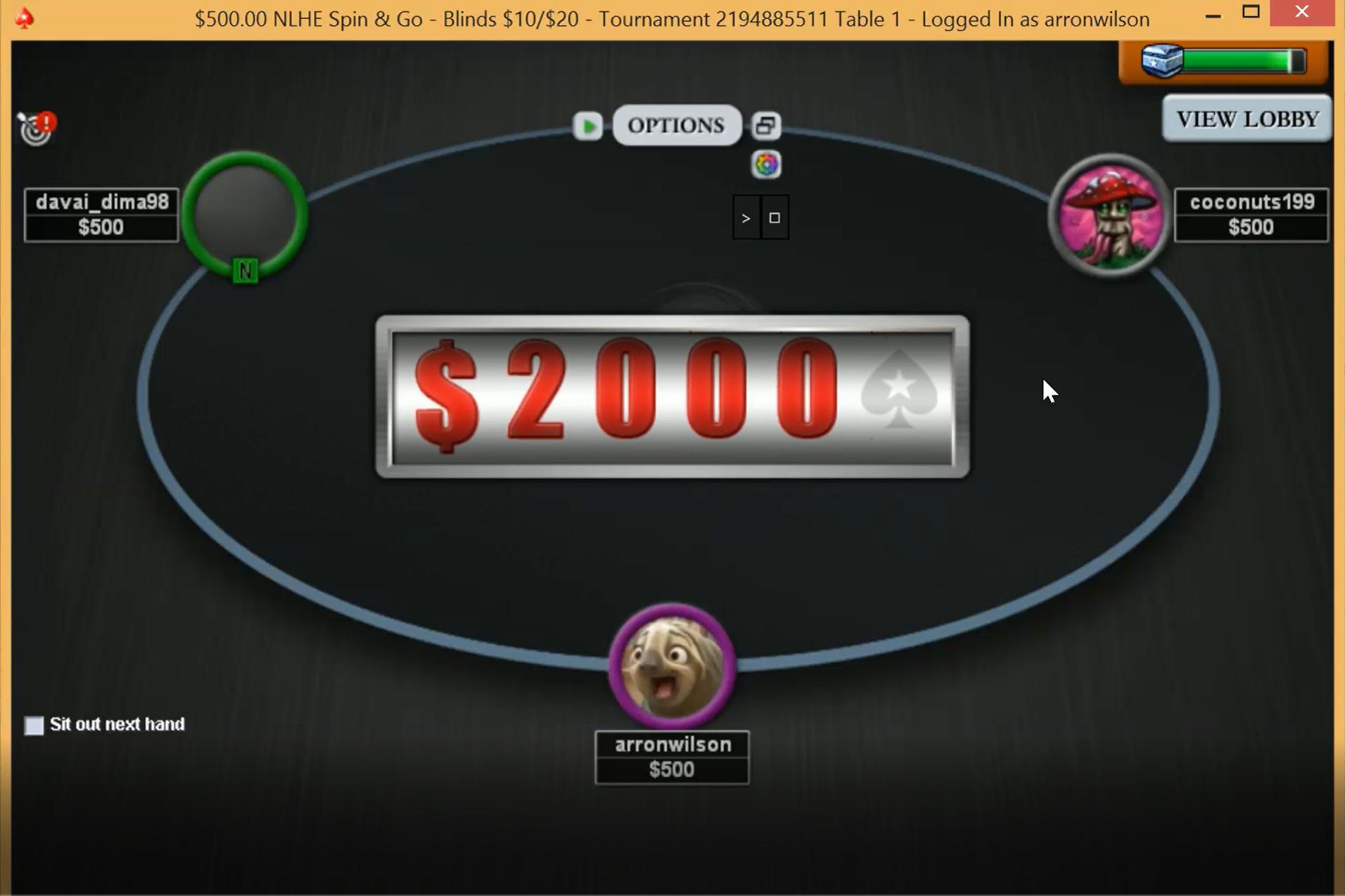 джекпот покер старс spin go
